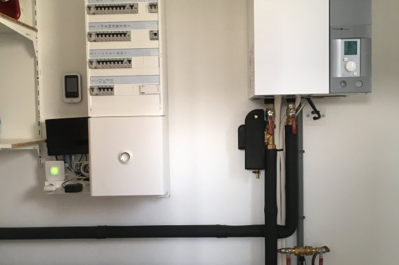 Pose tableau électrique et unité pompe à chaleur Lubersac