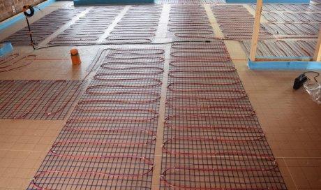 Installation plancher chauffant hydraulique Lubersac